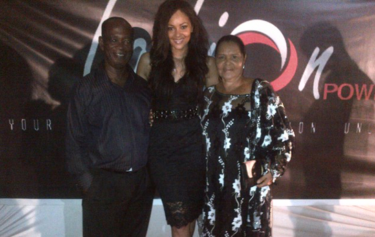 Menaye - With Family At Fashion Power