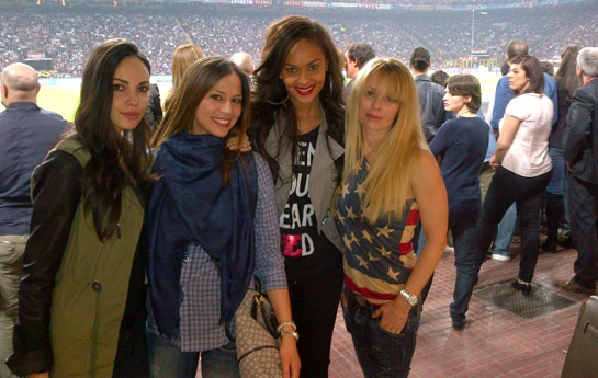 Menaye - AC vs Barcelona with the girls