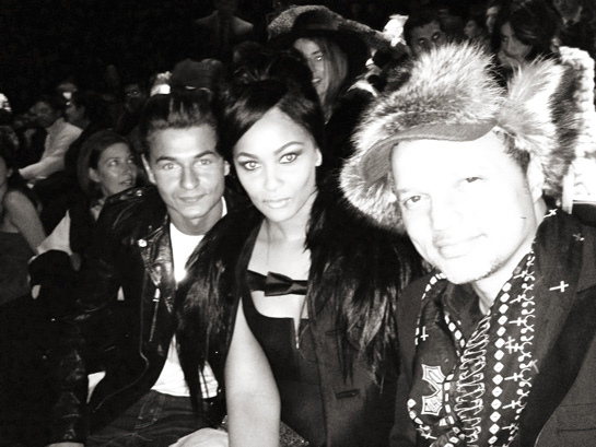 With Gerry Deveax Dsquared2 Fashion Show Front Row